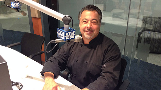 (South Jersey Hot Chefs vice president Anthony Iannone, at the KYW Newsradio studios.  Photo by Hadas Kuznits)