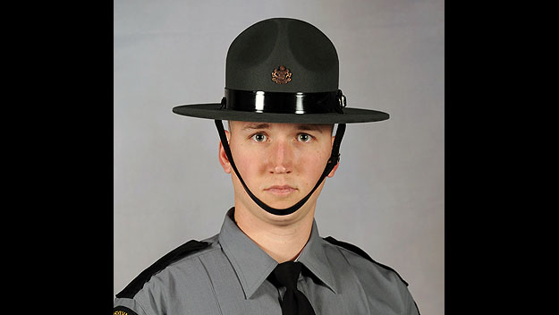 (Pennsylvania State Police trooper David Kedra.  Photo provided by Pa. State Police)