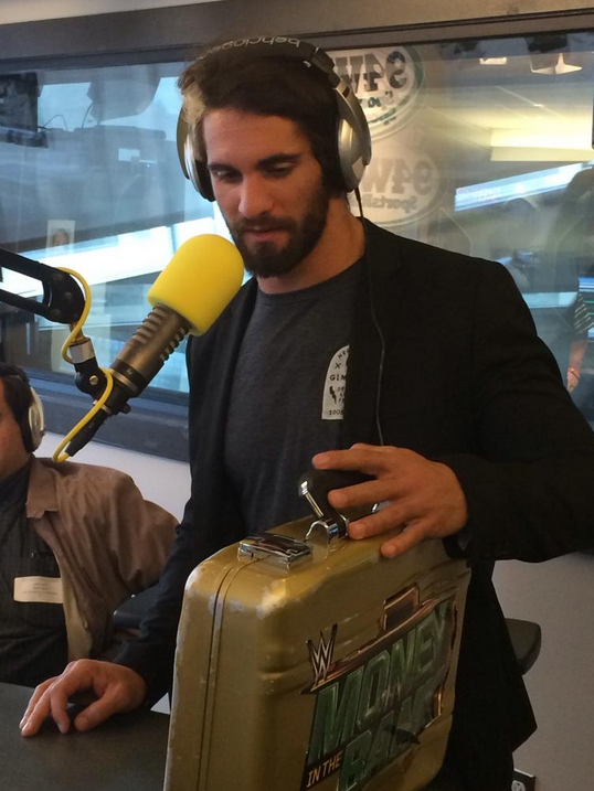 October 7th, 2014: TUESDAY - Seth Rollins on the 94WIP Morning Show (Photo credit: Cindy Webster/WIP)
