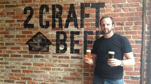 (John Wible, brewer, 2nd Story Brewing Co.  Photo by Hadas Kuznits)