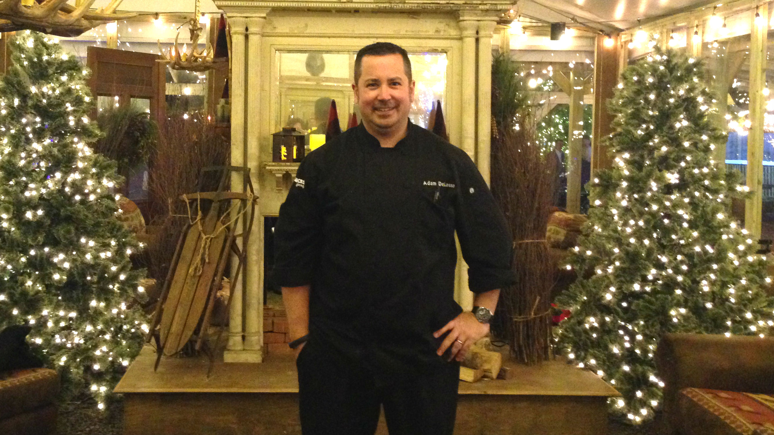 Adam DeLosso, Garces Events executive chef poses for a picture at Winterfest. (Credit: Hadas Kuznits)