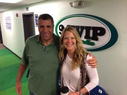 Angelo Cataldi (left) with Leslie Gudel (right) (Photo credit: Cindy Webster/WIP)