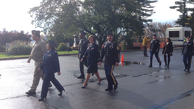 (The grand marshals of the 2014 Coatesville veterans' parade.  Photo by Jim Melwert)