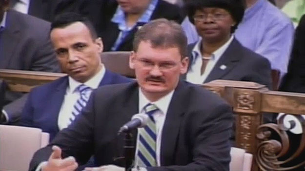 (Charles Goodwin, of the Center City Residents' Association, testifies before City Council.  Image from City of Phila. TV)