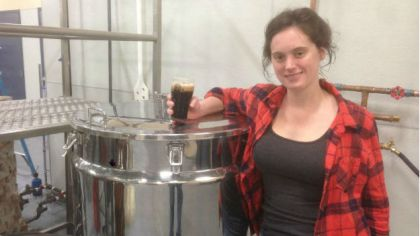 Christina Burris, brewer and operations manager at  St. Benjamin Brewing Company. (credit: Hadas Kuznits)