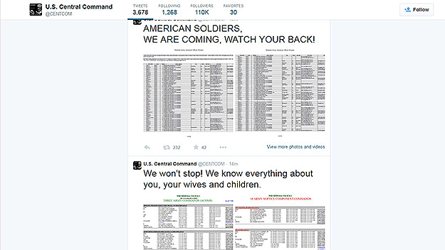 (Image from hacked @Centcom Twitter feed.)