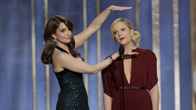 Golden Globes w/ Tina Fey & Amy Poehler ((Photo by Paul Drinkwater/NBCUniversal via Getty Images)