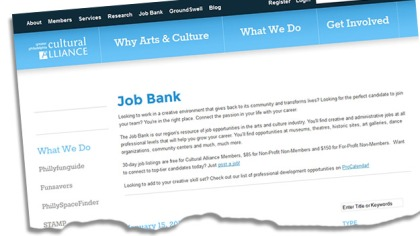 (The GPCA's job bank web site.  Image by Ed Fischer)