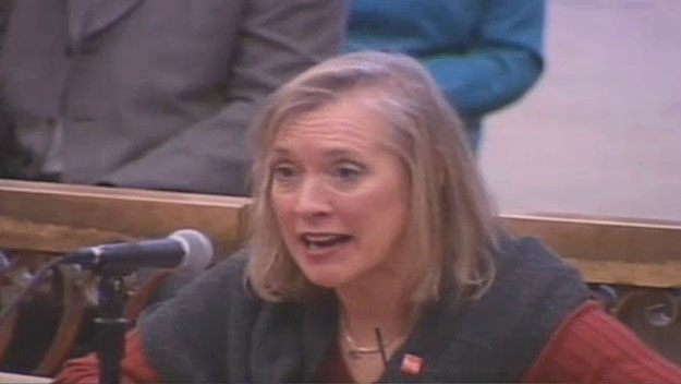 (Bonnie Grant, testifying.  Image from City of Phila. TV)
