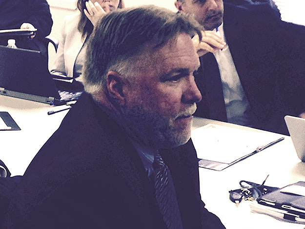 (Jack Lauser of Septa, at a hearing in Delaware County, Pa.   Photo by David Madden)