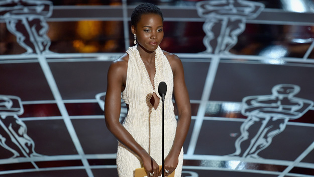 Lupita Nyong'o at 87th Academy Awards ((Photo by Kevin Winter/Getty Images)