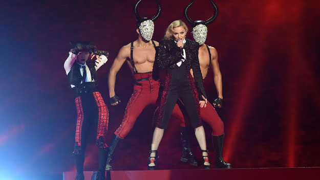 Madonna at the 2015 BRIT Awards (Photo by Gareth Cattermole/Getty Images)