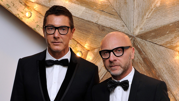 Designers Dolce & Gabbana (Photo by Gareth Cattermole/Getty Images)