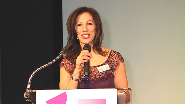 """(Jeannine Lisitski, photographed at the 2014 """"Dish It Up"""" event.  Photo provided)"""