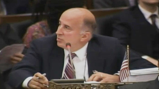 (Councilman Mark Squilla, defending his measure.  Image from City of Phila. TV)