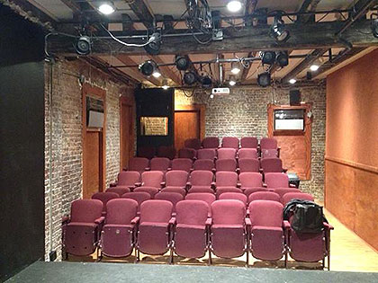 (The intimate IRTE theatre, before a show.  Photo provided)