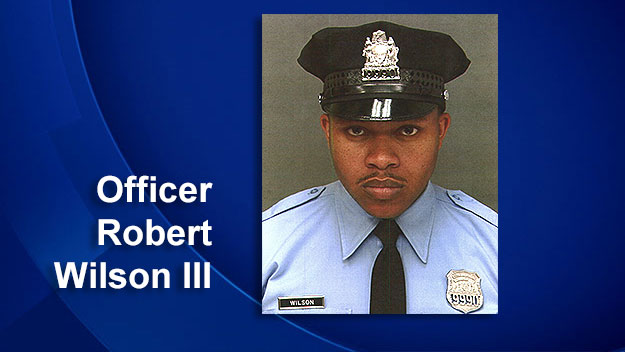 (Officer Robert Wilson was slain during an attempted robbery at a North Philadelphia video game store on March 5, 2015.  Photo provided by Phila. PD)