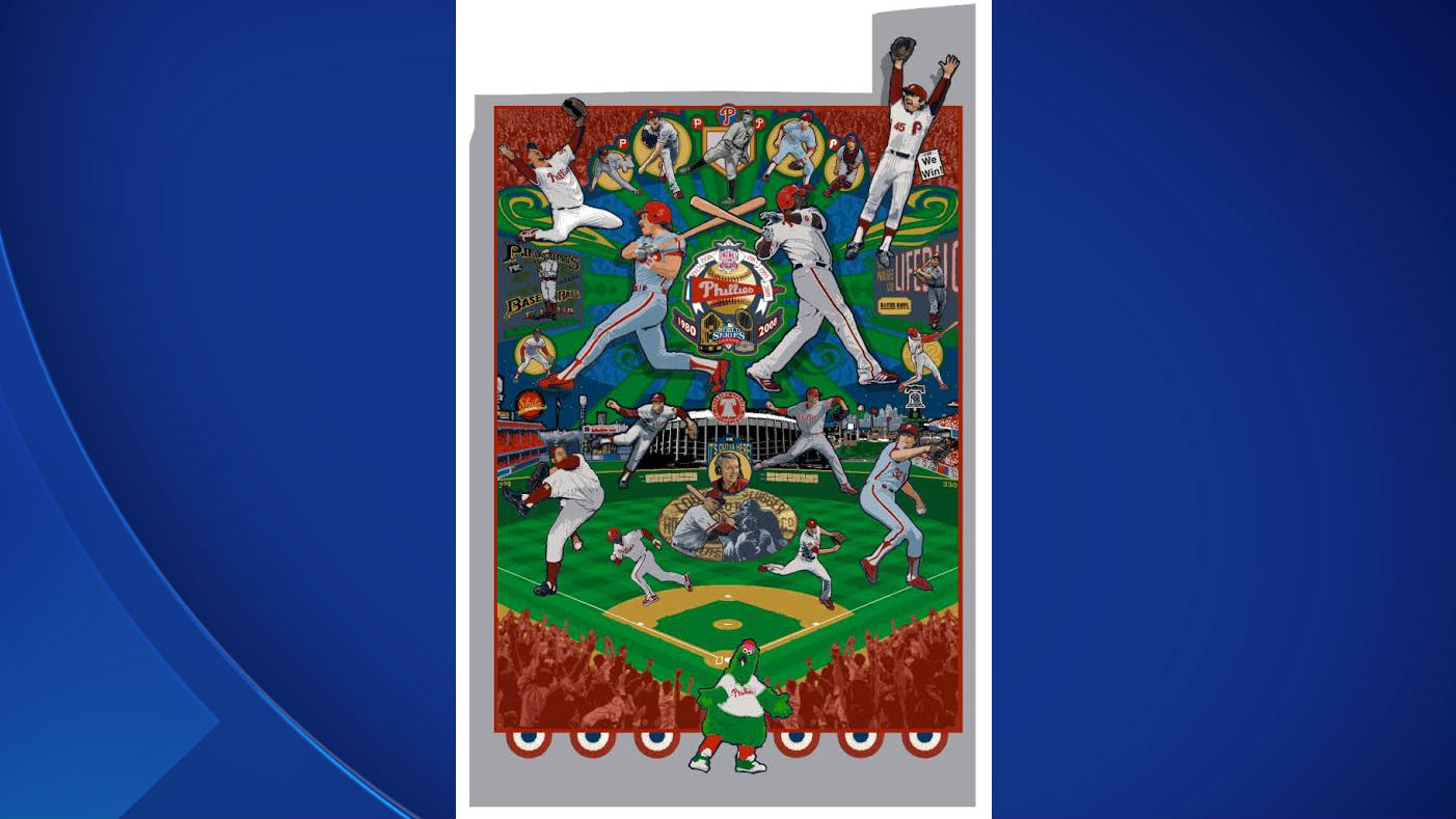 (Artist rendering of Phillies mural. Photo provided.)