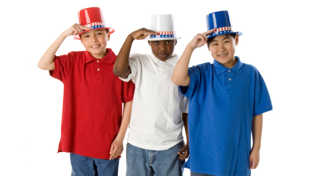 Red White and Blue Hats, July 4th, Party Hats