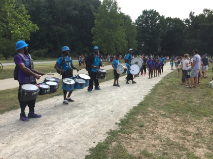 Drumline at the Invisible River Festival. (Credit: Hadas Kuznits)