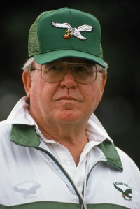 August 6, 1989 Head coach Buddy Ryan in London. The Eagles defeated the Browns 17-13. (Photo by Pascal Rondeau/Getty Images)