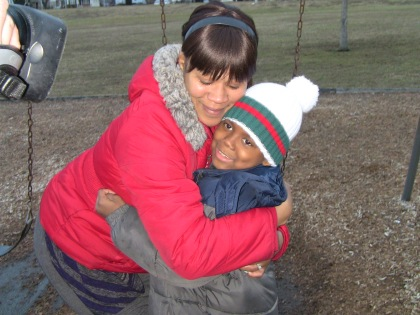 Isaiah with his mother Shanna. (credit: Cherri Gregg)