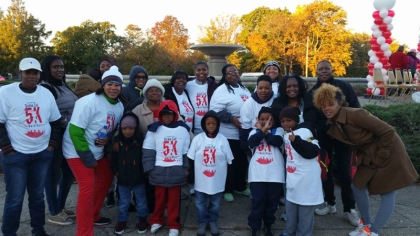 Isaiah at one of the Sickle Cell Walks he participated in. (credit: Shanna Huff)