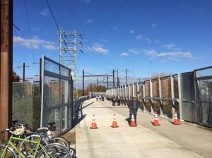 The walking and bicycle path on the Manayunk Bridge. (photo credit: John McDevitt)