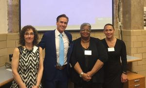 PA State Senator Shirley Kitchen (second from right) honored at PPS anniversary. (credit: Kim Glovas)