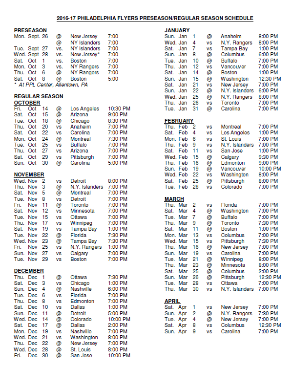 Lucrative image within flyers printable schedule