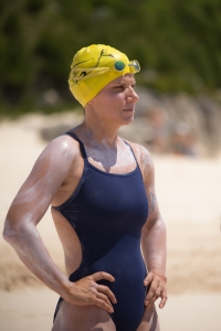 King is just the second person, and first woman, to swim around the island of Bermuda. (Photo credit: Roseli Johnson)