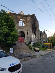 Good Shepherd Presbyterian Church was heavily damaged by a fire early Monday morning. (credit: Justin Udo)