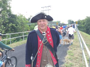 General John Sullivan  reenactor at the opening of Sullivan's Bridge. (Credit: Jim Melwert)