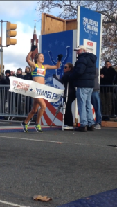 Women's first place finisher Taylor Ward. (credit: Mike Dougherty)