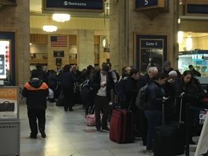 Many wait to start their journey home after Thanksgiving. (Credit: Andrew Kramer)