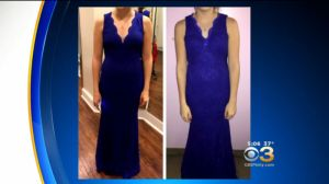 Photo provided to Eyewitness News of a dress reportedly modified for prom approval. (credit: Anita Oh)