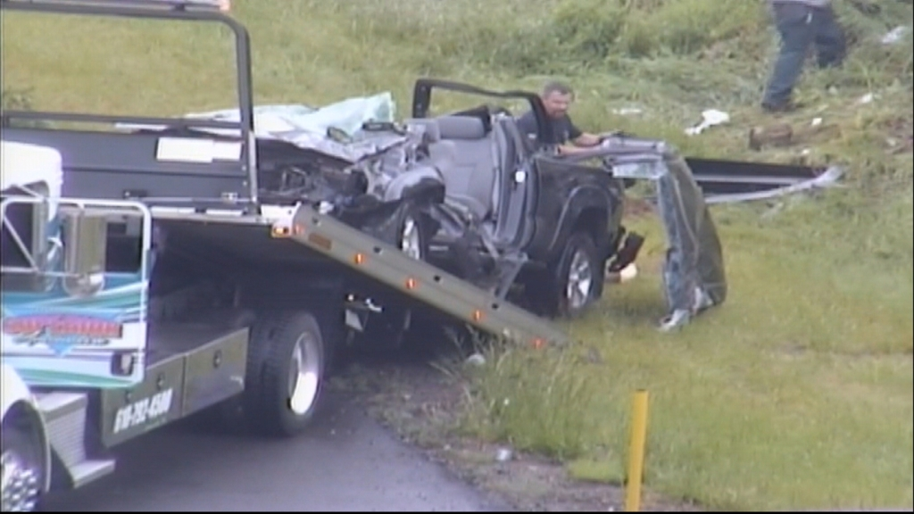 2 Injured After Car Flips Several Times In Multi-Vehicle