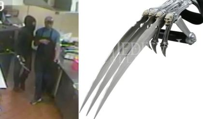 VIDEO: Suspects Rob Qdoba Restaurant Armed With 'Freddy Kruger' Glove
