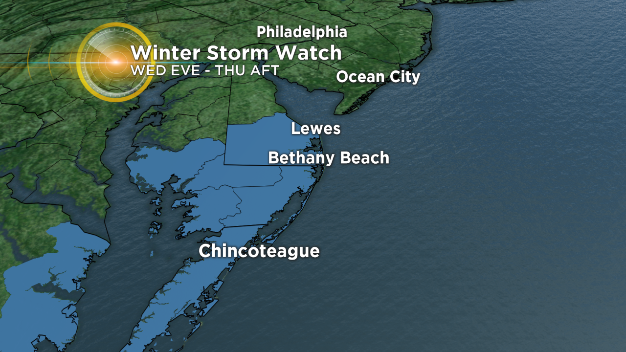 Winter Storm Warning Issued For Coastal New Jersey – CBS Philly