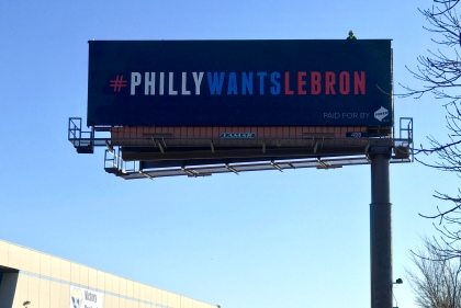 LeBron Come To Philly Billboard