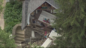 Building Partially Collapses In West Mount Airy