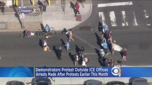 Demonstrators Protest Outside ICE Offices In Philly
