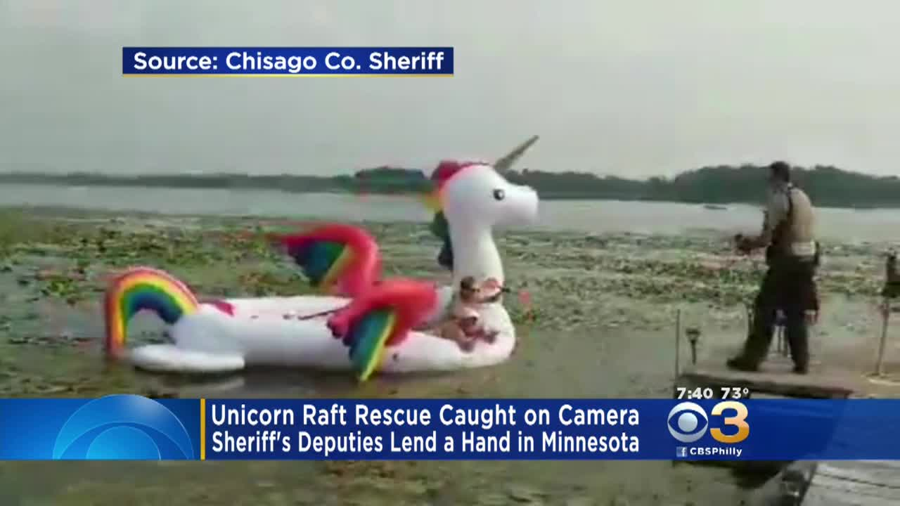 Women Stranded On Unicorn Raft Rescued By Deputies – CBS Philly