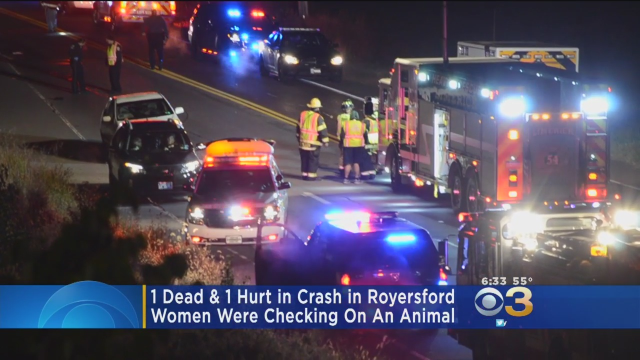 1 Dead, 1 Hurt In Crash After Women Stopped To Check On