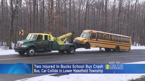 Student, Driver Injured Following School Bus Crash In Lower Makefield Township