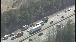 Multiple Injuries Reported After Bus, Tractor-Trailer Collide On New Jersey Turnpike