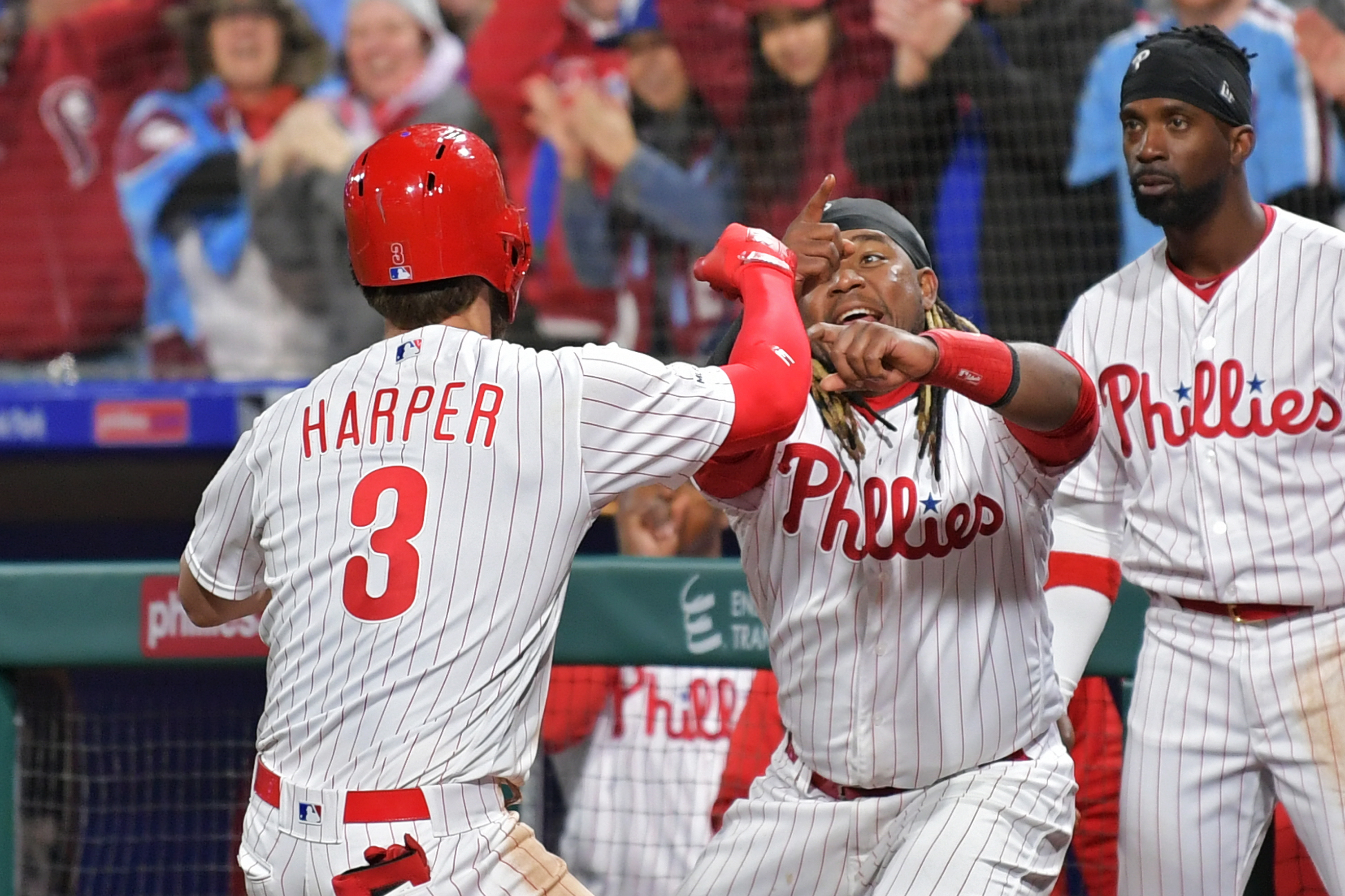 6e135eea Bryce Harper Does It Again As Phillies Sweep Braves To Open 2019 ...