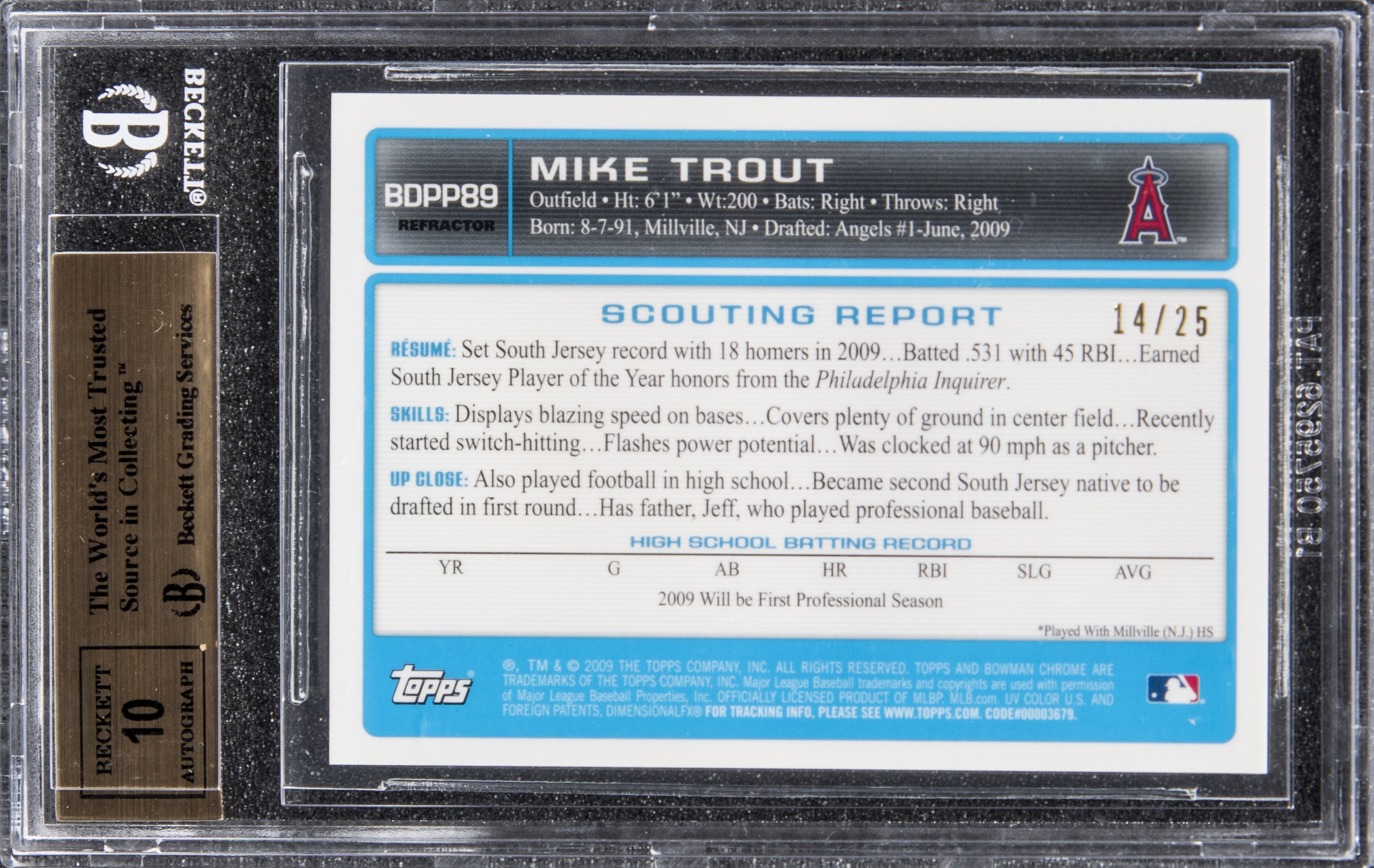 South Jersey Native Mike Trout Rookie Card Sells For Over 186000