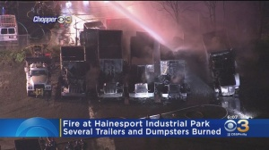 Several Trailers, Dumpsters Spark On Fire At Hainesport Industrial Park