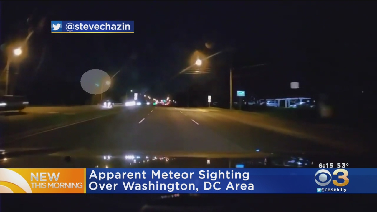 VIDEO: Apparent Meteor Sighting Along East Coast, Including